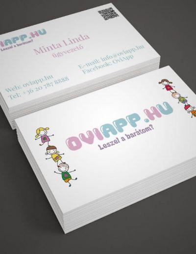 Oviapp.hu névjegykártya terv 2