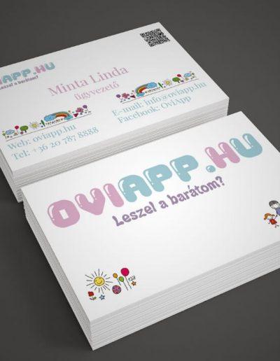 Oviapp.hu névjegykártya terv 1