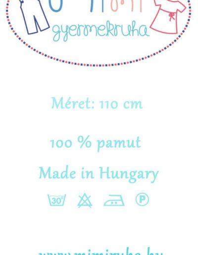 Mimi Gyermekruha ruhacímke terv 1