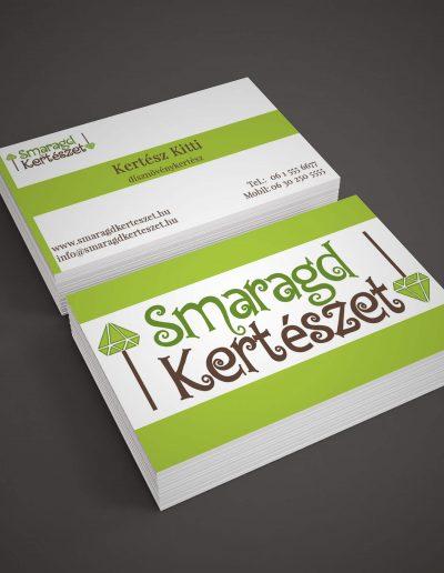 Smaragd Kertészet névjegykártya terv 1